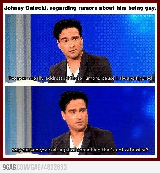 Johnny Galecki, just saying awesome, sensible things.