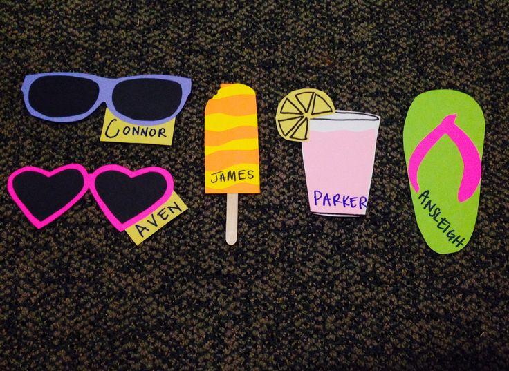 Summer / beach themed door decs for my residents! #doordecs #housing #ra