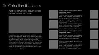 Exemple d'interface utilisateur d'application Windows Store
