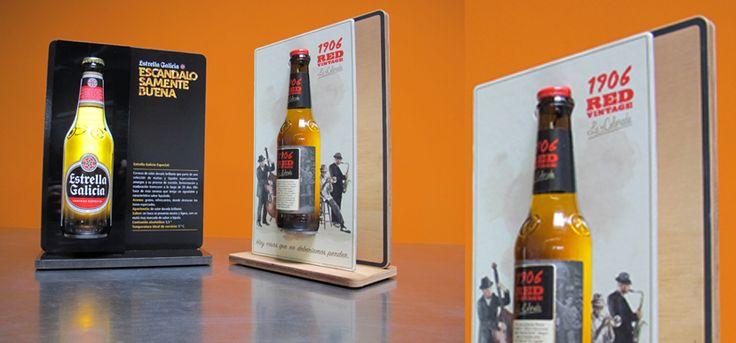 Producción y diseño de glorificador botella cerveza en madera y cartón reciclado