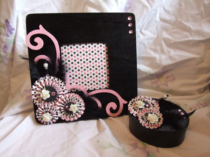 A handmade photo frame and trinket box - Scrapbook.com