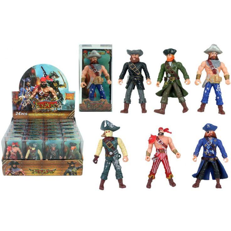 Små pirat figurer til bordpynt, festpynt og leg til pirat fødselsdag og pirat fest.