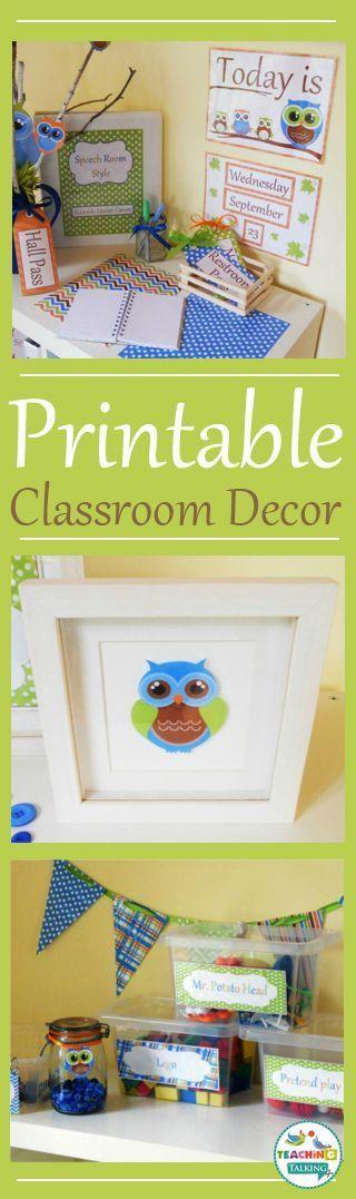 Owl theme printable decor for your classroom!
