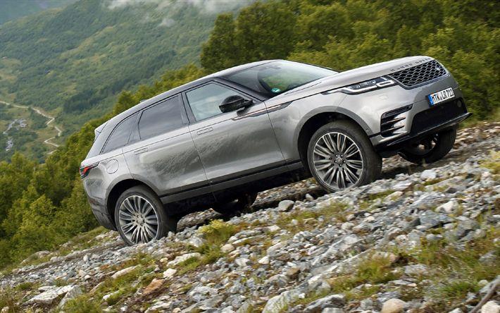 Lataa kuva offroad, Range Rover Velar, 2018 autoja, Katumaasturit, Land Rover, Range Rover