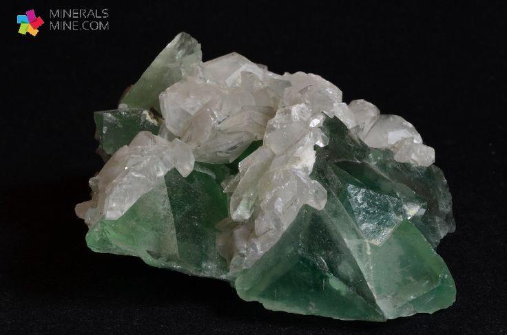Kalcyt i Zielony Fluoryt wspaniałe fantomy