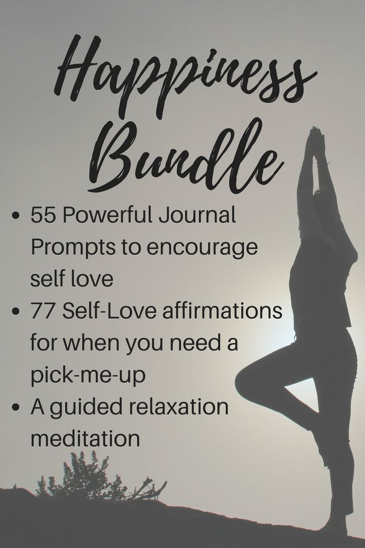77 Self -Love Affirmations, 55 journal prompts, and a guided relaxation meditation.