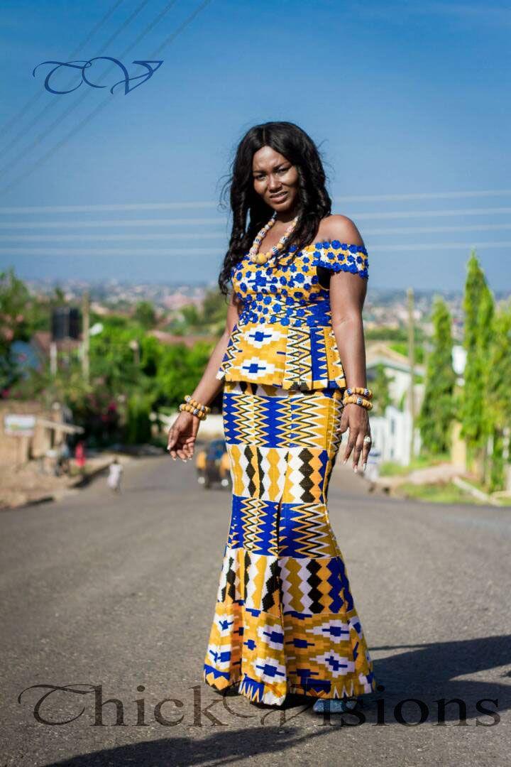 194da46e6b33b Ghana Kente Wedding Dress   2