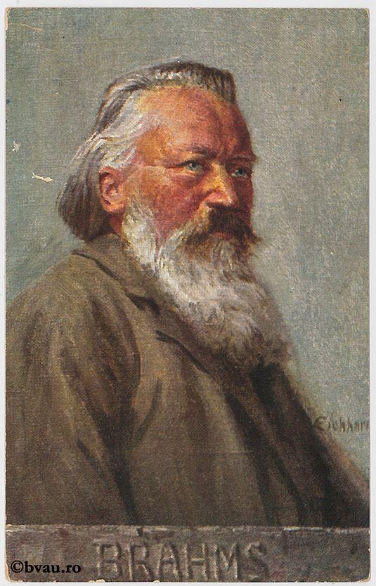 """Brahms. Imagine din colecțiile Bibliotecii """"V.A. Urechia"""" Galați."""