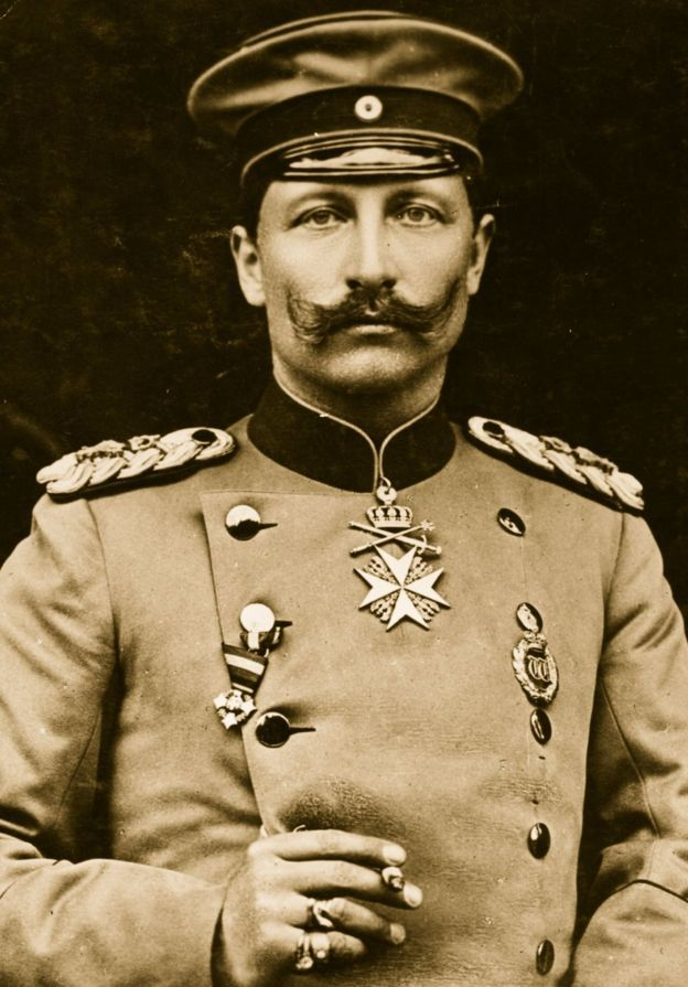 Kaiser Wilhelm II (1859 - 1941) was the last German emperor and king of Prussia