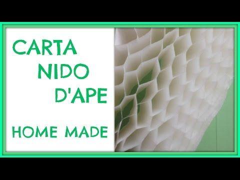 Come fare la Carta Nido / How to make Honeycomb Paper - Arte per Te - YouTube