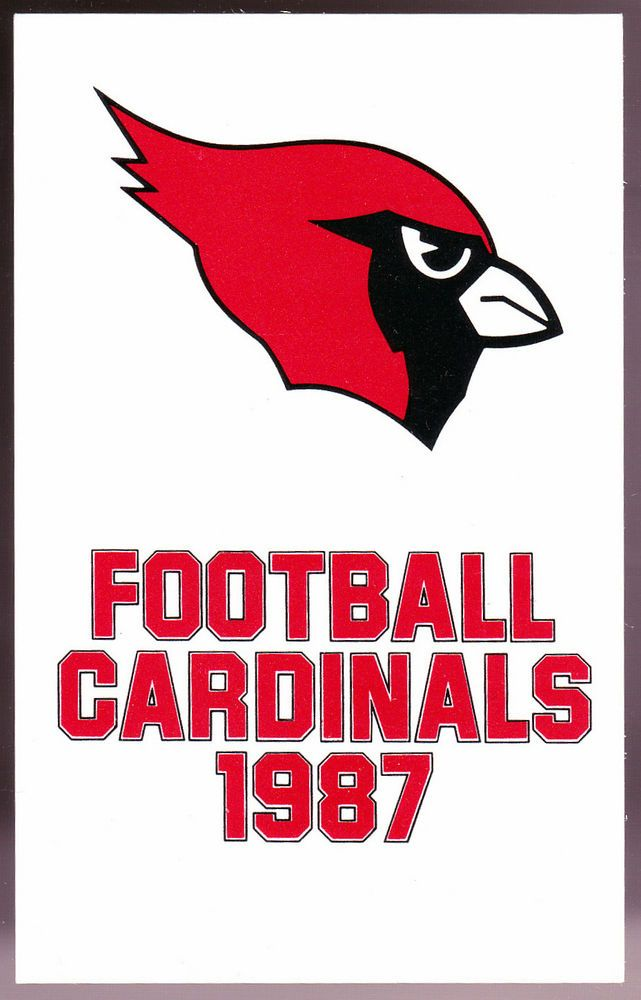 1987 ST LOUIS CARDINALS  FOOTBALL POCKET SCHEDULE  FREE SHIPPING #Pocket