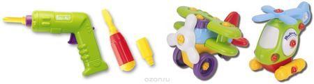 """Keenway Развивающая игрушка Build'n Play Аэроплан и вертолет  — 1880р.  Игрушка-конструктор, которая развивает логическое мышление, память и мелкую моторику рук. Ребенок сам собирает перед игрой вертолёт и аэроплан из набора """"BUILD""""N PLAY"""" Keenway при помощи отвёртки и шуруповёрта. Отвёртка имеет три насадки – крестовую, шестигранник и плоскую для успешного крепления всех деталей между собой. Шуруповёрт электронный, на батарейках, он быстро справится с любой работой. - транспортные средства…"""