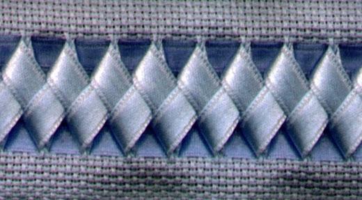 swedish weaving with ribbon