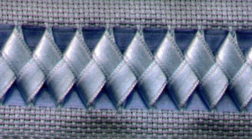 swedish weaving with ribbon