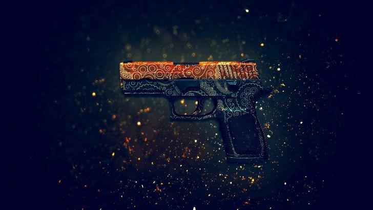 Download P250 Pistol Mehndi Counter Strike Global Offensive Weapon Skin 1920x1200