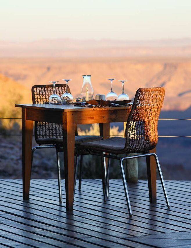 Take a full day's drive exploring the canyon, the many viewpoints and spectacular pools on the canyon floor, and end it off the old fashioned way - an epic sunset over the red dusty horizon, glass of champagne in hand. Timbuktu Travel.