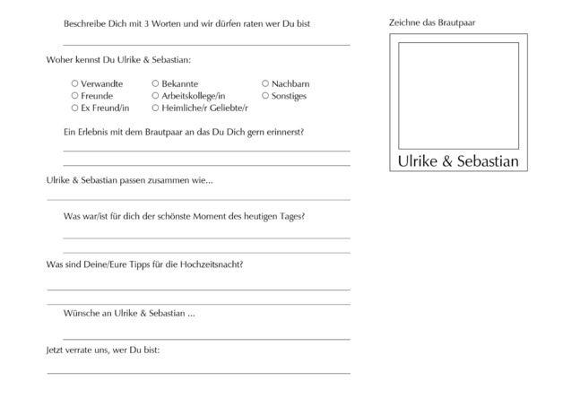 Hochzeitsgästebuch - Gästebuch mit Steckbrief für Hochzeitsgäste - NEU - ein Designerstück von Sweets-for-your-Sweets bei DaWanda