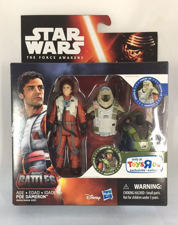 Star Wars The Force Awakens Toys R Us Exclusive Epic Battles Poe #Hasbro