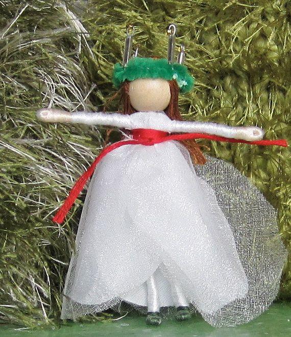 Santa Lucia Flower fairy doll, Christmas fairy, Waldorf fairy doll,  Saint Lucia, Saint Lucy