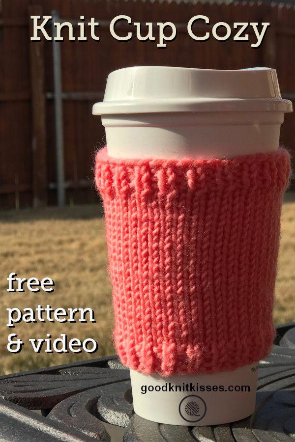 Free Easy Awesome Coffee Mug Cozy Pattern