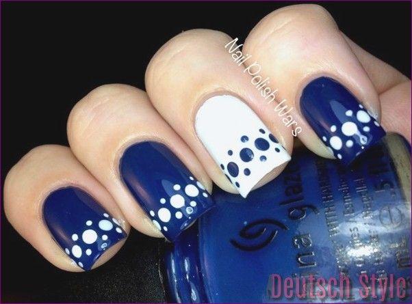 45 Inspirational Blue Nail Art Designs und Ideen #Designs #Ideen #inspirational