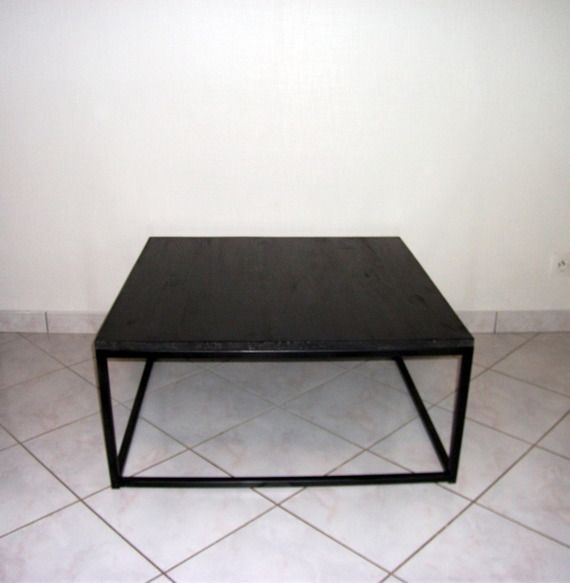 25 best ideas about table basse acier on pinterest mobilier acrylique pou - Table basse verre roulette industrielle ...