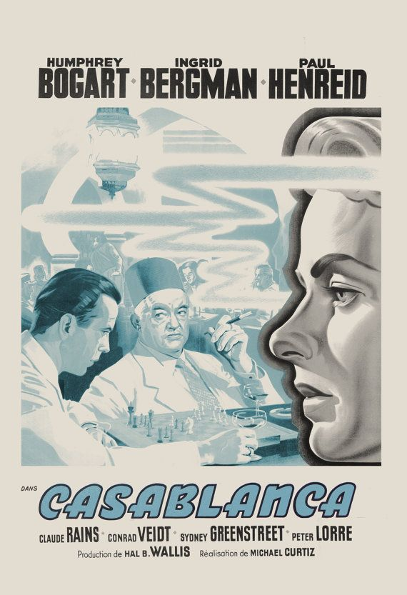 CASABLANCA FILM POSTER Vintage Casablanca by EncorePrintSociety