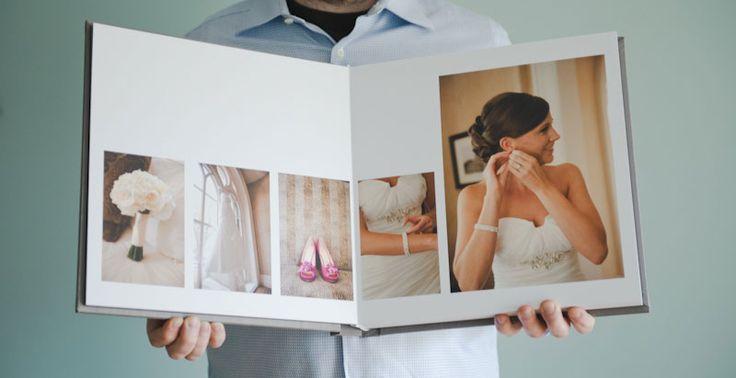 Linen Flush Mount Wedding Album Minneapolis