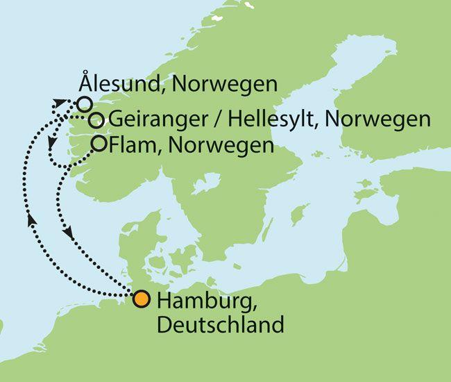 Premium All-Inklusive Kreuzfahrt nach Norwegen - 7 Tage ab € 1.099,- inkl. Transporte