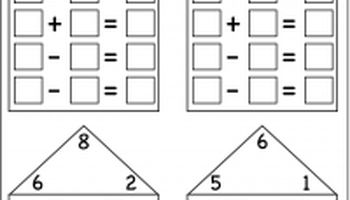 Fact Family Houses - 7 Worksheets