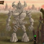Reign of the Goliaths: dovrete cliccare in giro per lo schermo nella giusta sequenza e nel giusto momento per fare accadere gli eventi che vi porteranno alla sconfitta del Goliath, il gigante di pietra.  #stickfigure #stickman #stickmangames #flashgames #games