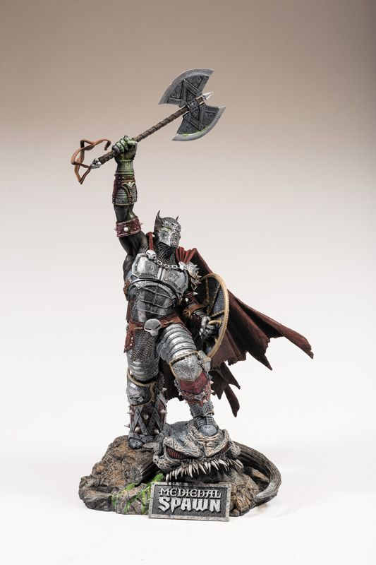 McFarlane Toys Medieval Spawn Resin Statue Spawn fans rejoice as Medieval Spawn finally makes his appearance! Spawn goes back in time to right history and look totally awesome doing it. This limite ..