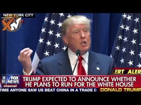 Donald Trump Presidential speech announcement 2016 - Donald Trump Bashes Mexico Obamacare - YouTube