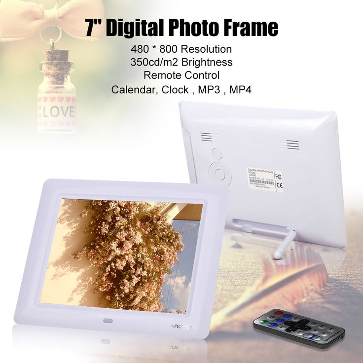 Buy best white us 7'' HD TFT-LCD Digital Photo Frame from LovDock.com. Buy affordable and quality Digital Photo Frame online, various discounts are waiting for you
