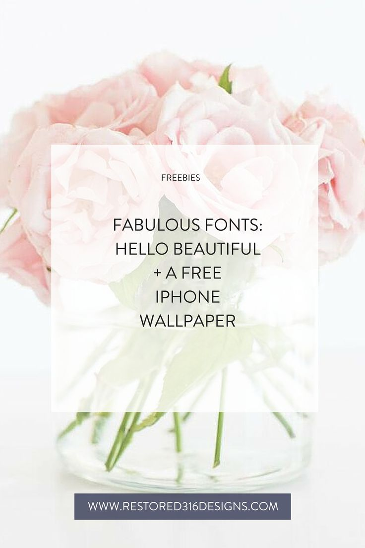 Find Fonts Similar To Hello Beautiful