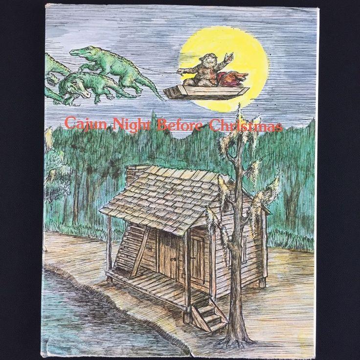 Cajun Night Before Christmas Book Vtg 1980s Childrens Louisiana Bayou Dialect