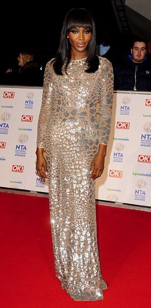 Catwalk queen: Naomi Campbell arrives at the National Television Awards