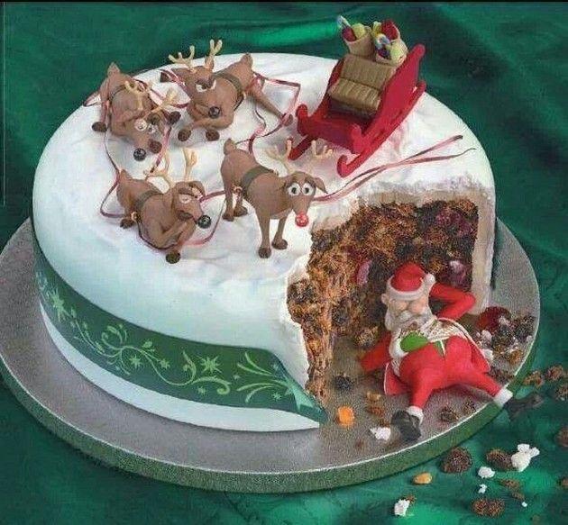Funny Christmas cake