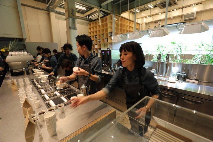ブルーボトルコーヒー中目黒カフェオープニングレセプションの当日の様子