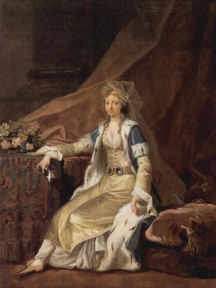 Louisa von Schleswig-Holstein-Sonderburg-Augustenburg in Turkish Dress, Jens Juel, ca. 1785; Schleswig-Holsteinisches Landesmuseum