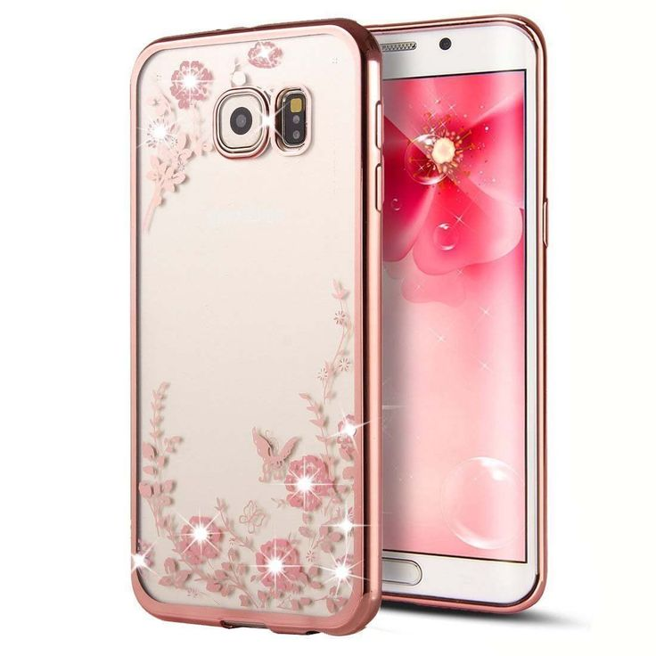 Secret Garden Rose Gold and Pink TPU Plating Clear Shiny Cover For Samsung Galaxy S7 / S7 Edge/ iPhone 6S/ iPhone 6S Plus
