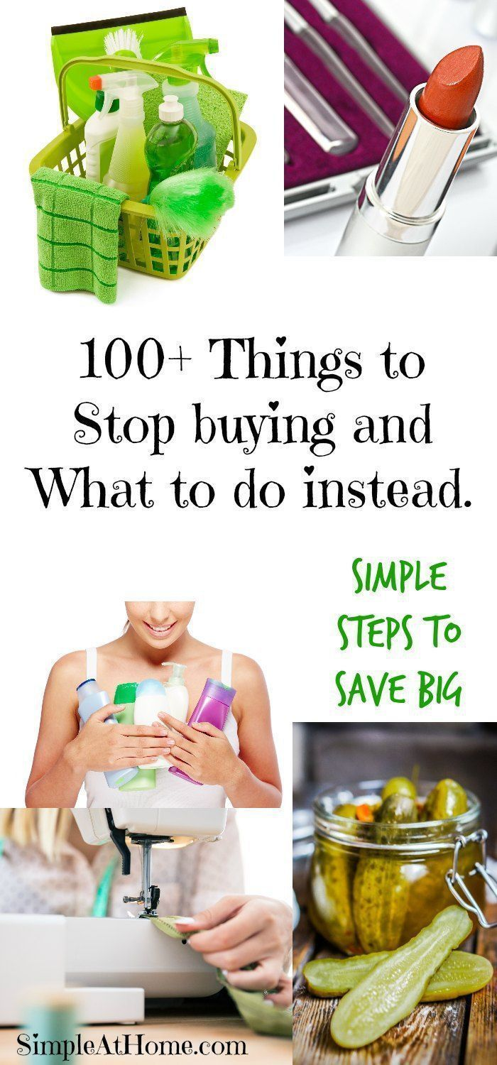 Huge list of things you can do to save money! Save money | frugal living | homemaking