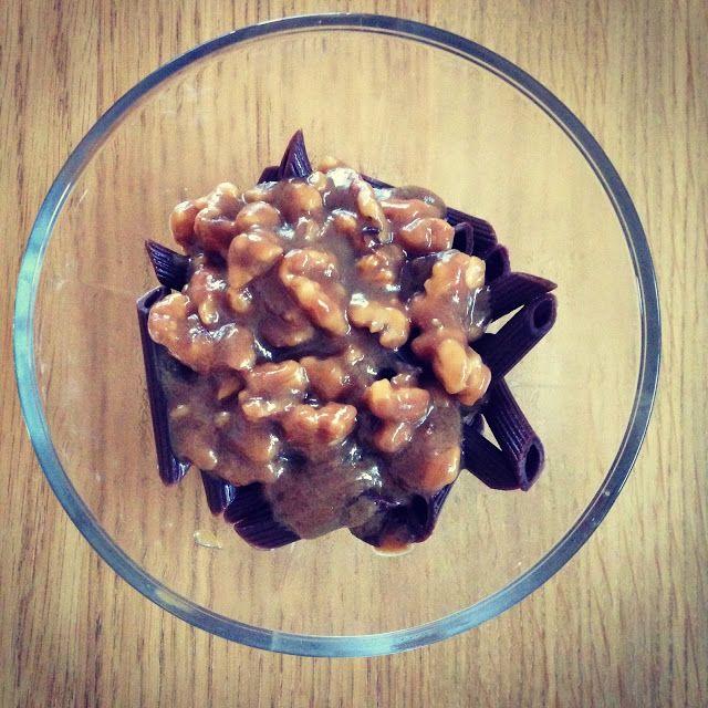 Gunns momsemat: Sjokoladepasta med valnøtter og karamellsaus