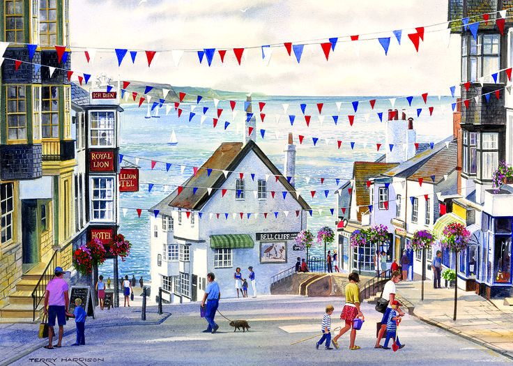 Lyme Regis Puzzle 1 #jigsaw #puzzle #christmas #xmas #gifts #children #grandparents #hobby #fun #family #gibsons #set