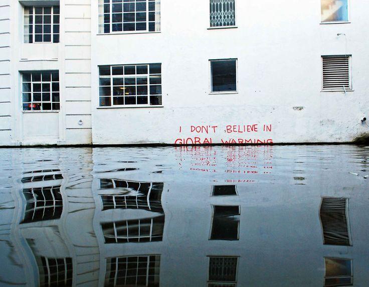 Yo no creo en el calentamiento global por Banksy