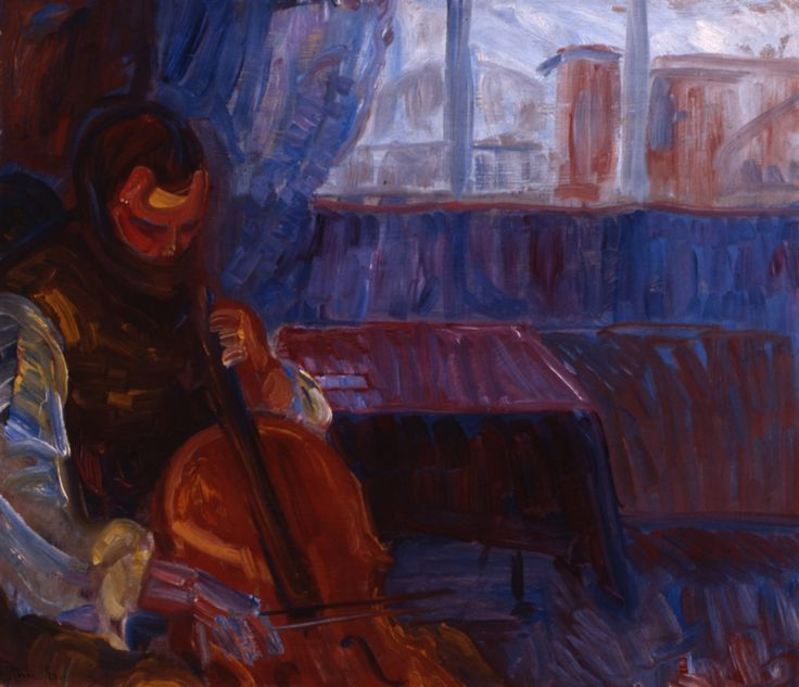 ♪ The Musical Arts ♪ music musician paintings - Thorvald Erichsen - Cellospiller