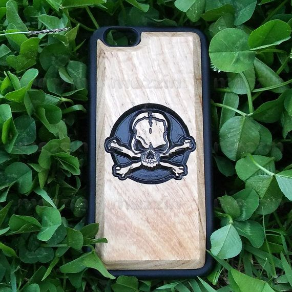 Carved Wood Phone Case  Carved Skull by mozzin on Etsy