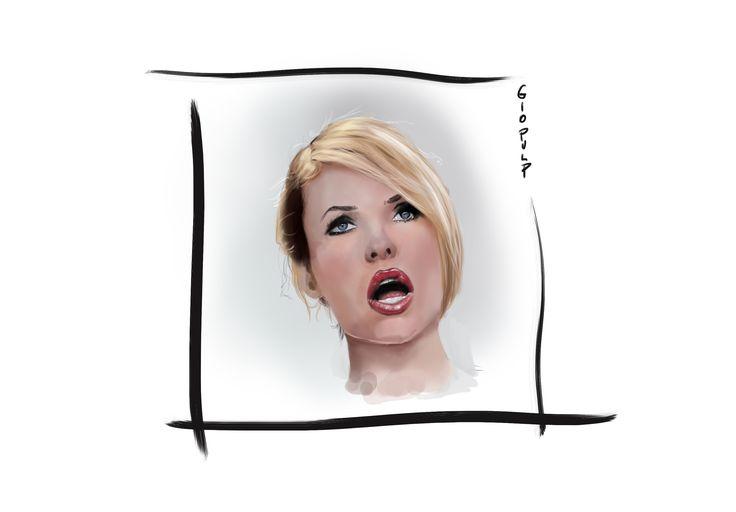 Hilary blasi disegnata partendo da Scream https://www.youtube.com/watch?v=bvpljXX3jHQ