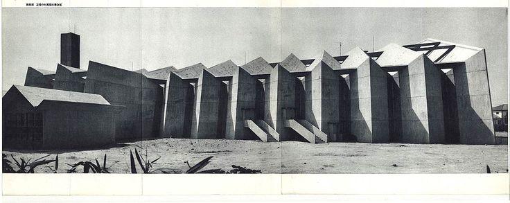 群馬音楽センター Gunma Ongaku Center, Takasaki Japan 1961 建築:Antonin Raymond