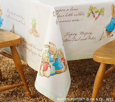 Peter Rabbit Tablecloth Pbkids This Is A Must Have For